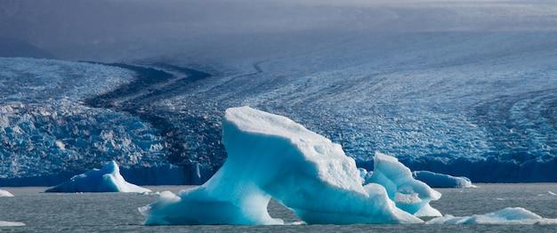 Detail of a glacier of the perito moreno glacier in south america, argentina