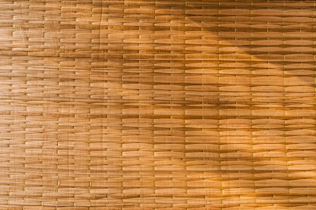 Detail handcraft bamboo weaving texture background.