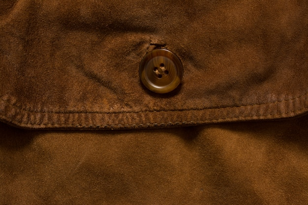 Detail of jacket suede