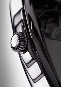 Detail macro of a luxurious wrist watch