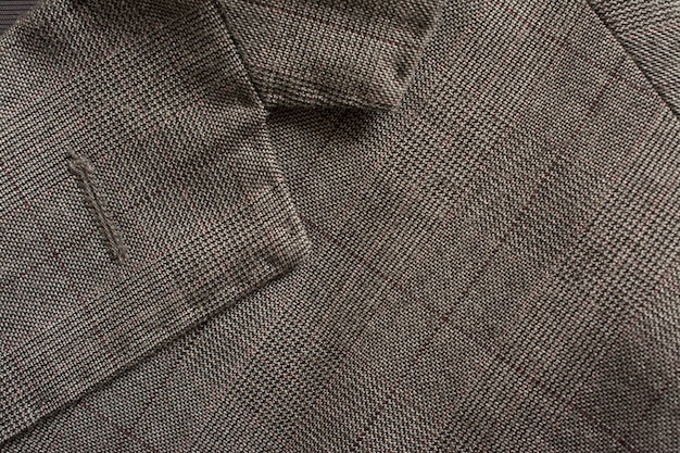 Detail of a man's business suit tailoring