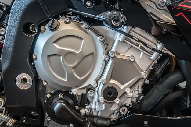 Detail of modern motorcycle engine. big bike