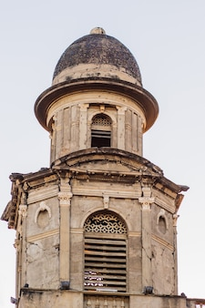 Detail of nicaragua capital managua cathedral is an ahistorical building situated in revolution square