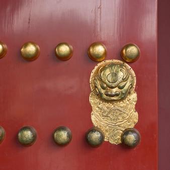 ドア、紫禁城、西城区、北京、中国の詳細