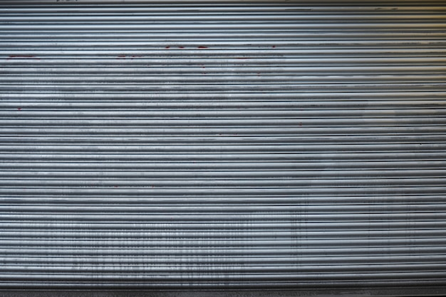 Деталь двери гаража серый металл
