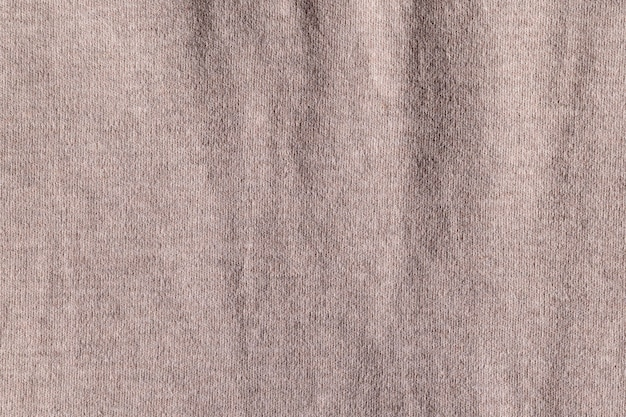 空の布布ポリエステルテクスチャとテキスタイルの背景の詳細。