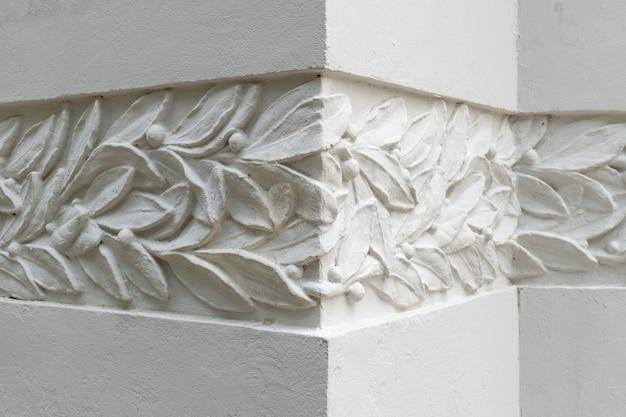 건물 벽에 현대 장식의 세부 사항입니다.
