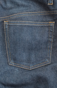 Detail of nice blue jeans
