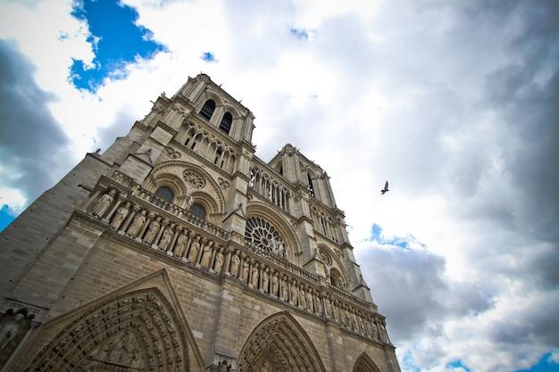Деталь парижского собора парижской богоматери, париж, французский