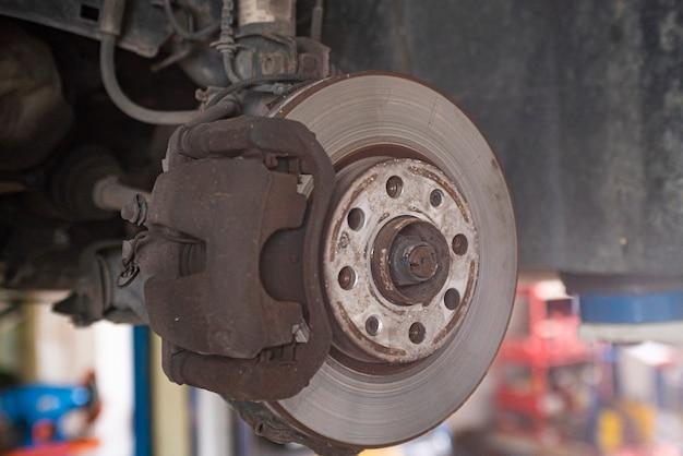 交換する古い車のブレーキディスクの詳細