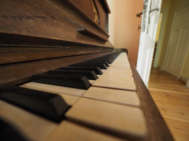피아노 키보드 키의 세부 사항