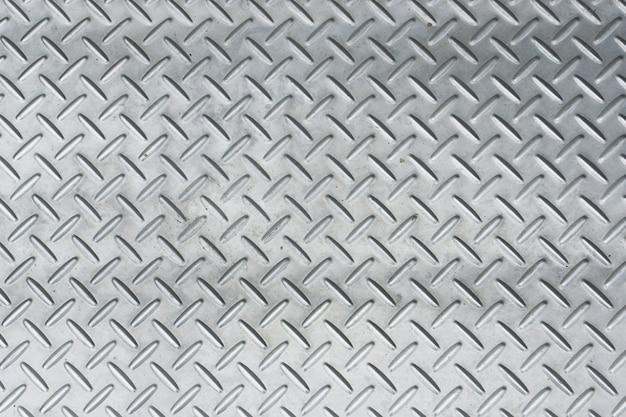 背景のためのマンホールカバーからのステンレス鋼または金属テクスチャパターンの詳細