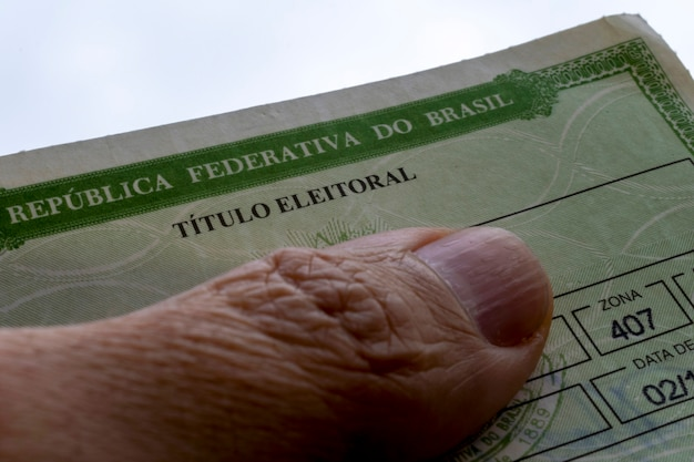 브라질 선거인 명칭의 세부사항 브라질 선거 유권자의 직위