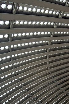 モダンな楕円形の天井の詳細