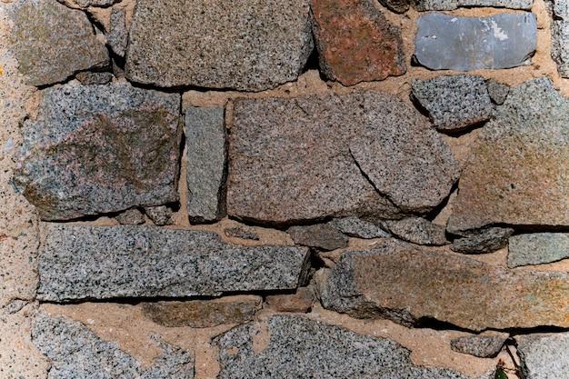 돌 블록 벽 배경의 세부 사항