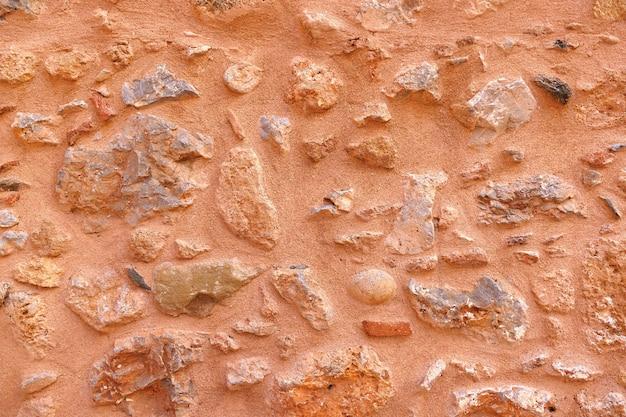 モネンバシアの神秘的な城内の城壁の構造の詳細