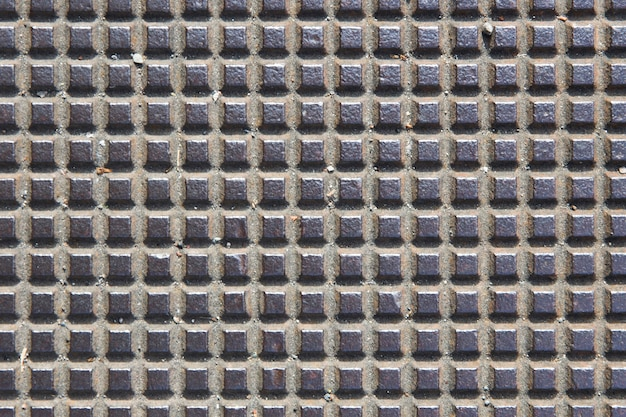Detail of the old square metal pattern background