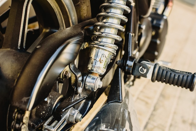 Detail of parts of a motorcycle