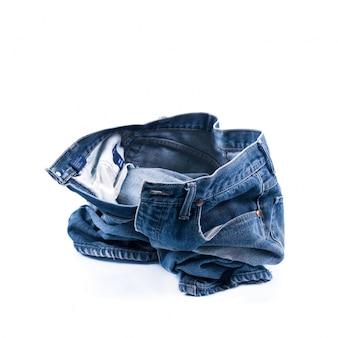 Деталь грубой одежды моды синий