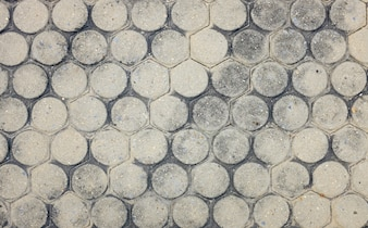 Detail Stone pathway in the garden, Top view