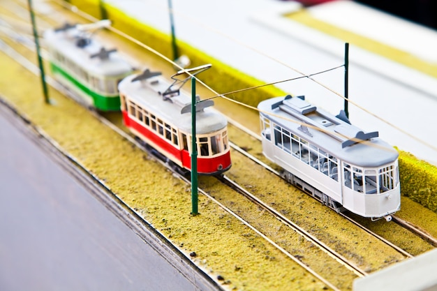 Detail of trains models: concept of collection