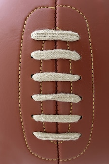 Detail of the vintage football ball