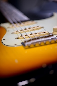 Detail of vintage guitar