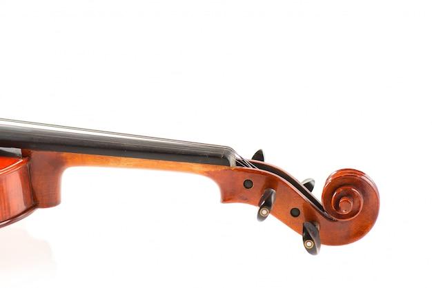 Detail of violin neck