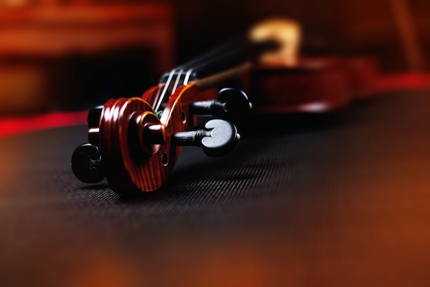 Detail of a violin