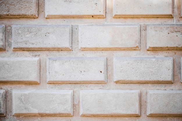 Detail of white stone wall
