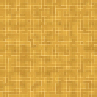 Detail of yellow gold mosiac texture abstract ceramic mosaic adorned building. abstract seamless pattern. abstract colored ceramic stones.