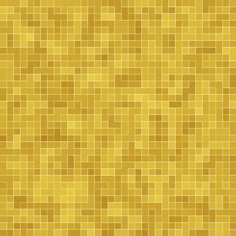 Detail of yellow gold mosiac texture abstract ceramic mosaic adorned building.