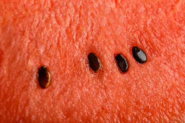 Detailed closeup of watermelon for background