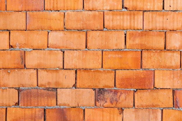 Detailed orange brick wall background