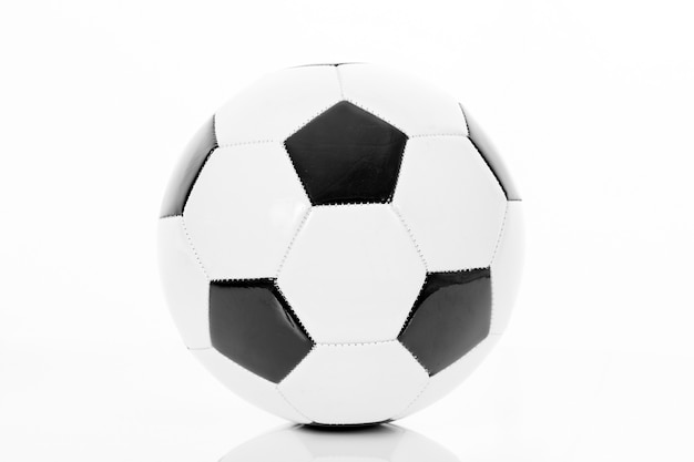 Detailed soccer ball, football icon, isolated