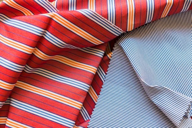 Detailed views of stripes pattern textile