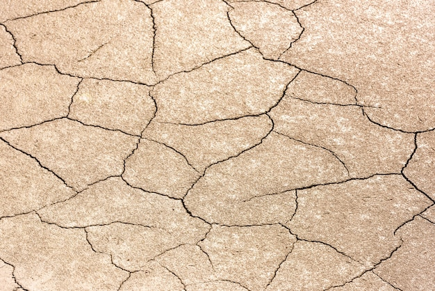Details of a dried cracked earth soil. background