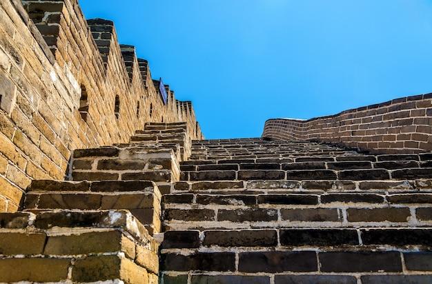 Details of the great wall of china at badaling