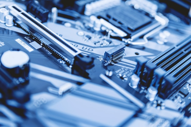 Details of pc motherboard. pc components