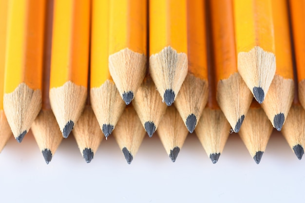 Details of pencil tips macro