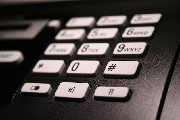 Details of telephone keypad