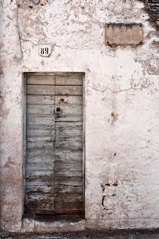Deteriorated wooden door