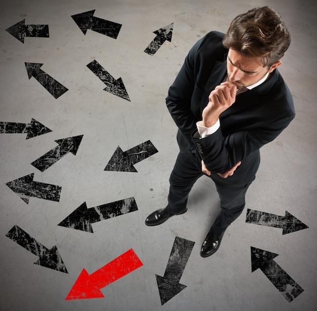 Решительный бизнесмен решил, в каком направлении двигаться