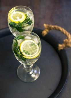 Detox lemon drink