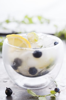 Detox water cocktail. summer party  drink .