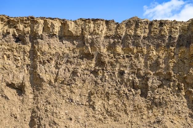 開発された砂または粘土の採石場
