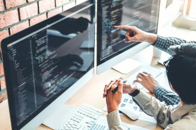 Developing programmer team development website design and coding technologies