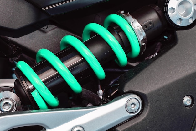 A device for absorbing jolts and vibrations, especially on a motor vehicle.