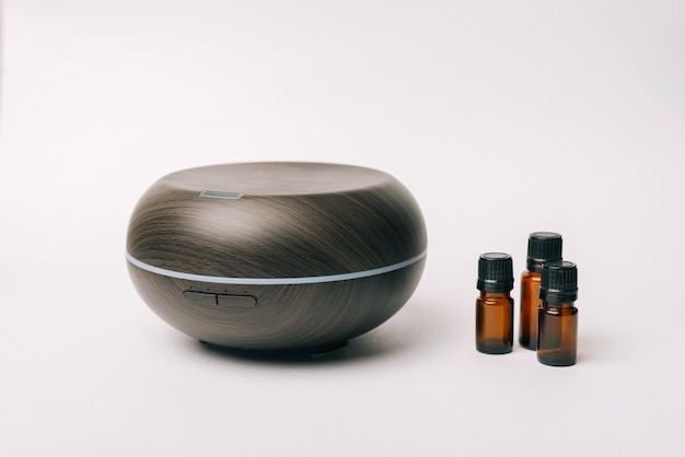 Device for aroma therapy with oil and vapor