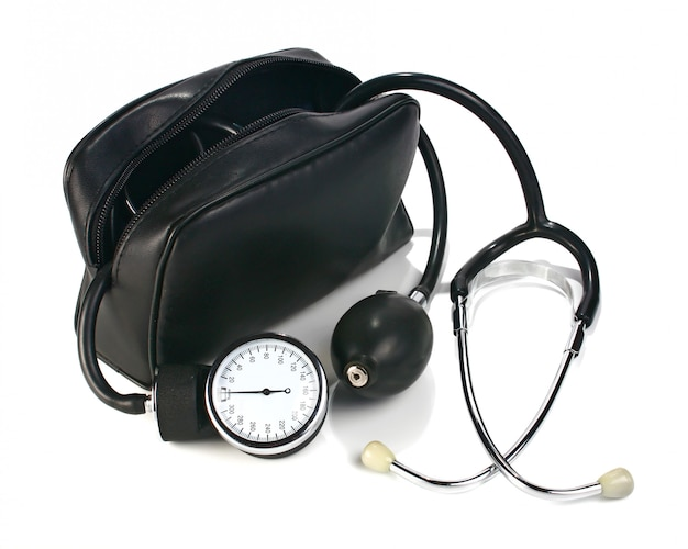 A device reading blood pressure